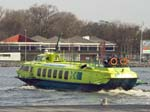 The Fast Flying Ferry Leaving Amsterdam