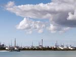 Fawley Oil Refinery from Hamble Common
