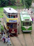 Leeds City Tramways 399 and Blackpool Corp'n Transport 167