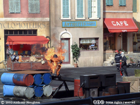 Man on Fire,Disney Studios,Paris,Stunt,Display