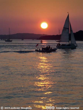Poole,Sandbanks,Sunset,Sky,Boats