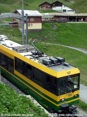 Kleine Scheidegg,Swiss Railway,Bhan,Train,Rack,Cog,WAB,Wengeneralpbahn,BDeh4/8,Panoramic
