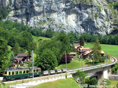 Lauterbrunnen,Swiss Railway,Bhan,Train,Rack,Cog,WAB,Wengeneralpbahn,BDhe 4/4,Trucks