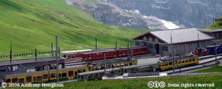 Kleine Scheidegg,Swiss Railway,Bhan,Train,Rack,Cog,Depot