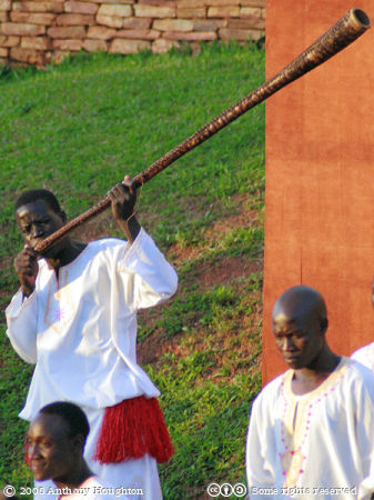 Horn Player,Ndere Dancers,Kampala