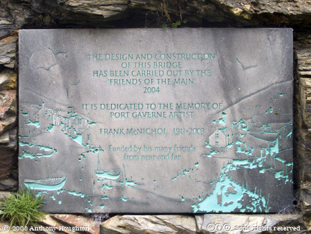 Bridge Plaque,Port Gaverne