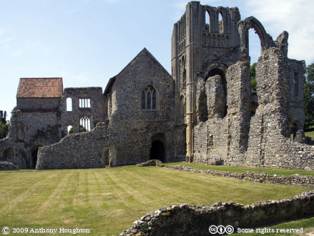 Cloister,Priors Lodging,Prior's Lodging,Castle Acre Priory