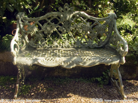 Bench,Serles House,Secret Garden,Wimborne