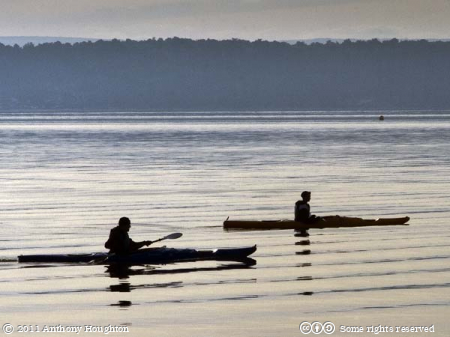Canoeists,Baiter Point,Poole Harbour,Canoes