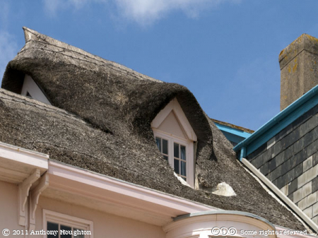 Thatched Roof,Lyme Regis,Houses
