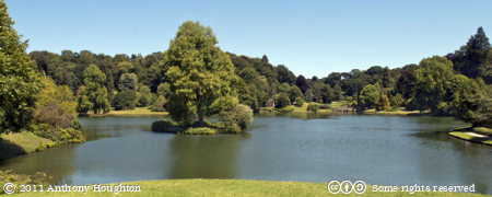 Lake,Pantheon,Stourhead
