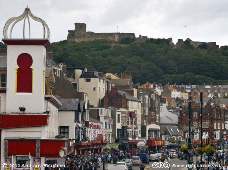 South Bay,Scarborough,Shops,Houses,Castle