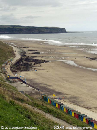 West Sands,Whitby,Beachhuts,Sea,Cliffs
