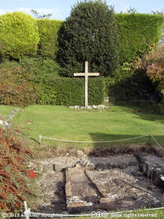 South Aisle,Shaftesbury Abbey,Cross,Garden