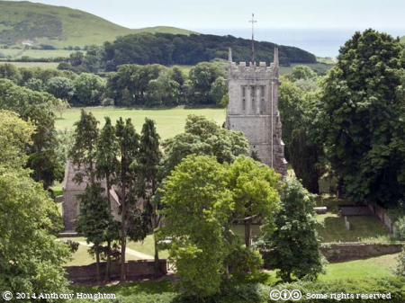 St Andrew's Church,Tower,Lulworth Castle,Trees