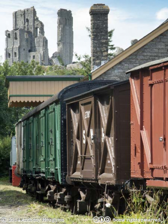 Goods Shed,Corfe Castle,Swanage Railway,Heritage,Waggons