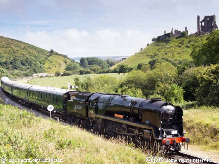 Eddystone,34028,Norden,Swanage Railway,Steam Engine,Heritage,Corfe Castle,West Country/Battle of Britain Class