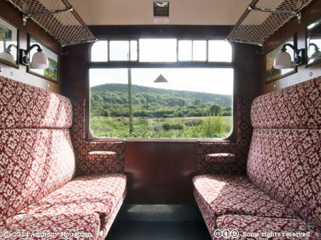 Third,Class,Compartment,Bulleid Coach,Swanage Railway,Heritage,Seats