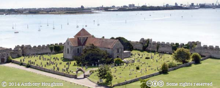 Porchester Castle,St Mary's Church,View