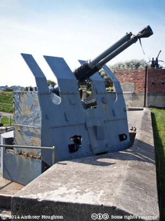 Twin Bofors Anti-aircraft Gun,Nothe Fort,Weymouth