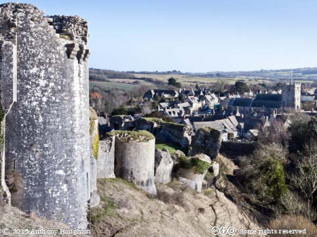 Corfe Castle,Curtain Wall,Ruin,National Trust