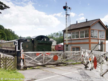 Level Crossing,Parkend Station,Dean Forest Railway,Heritage