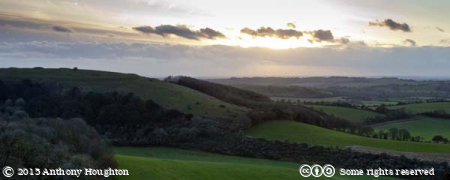 Old Winchester Hill,Sunset