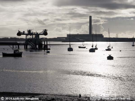 Fawley Power Station,Calshot,Warsash,Boats,Sea
