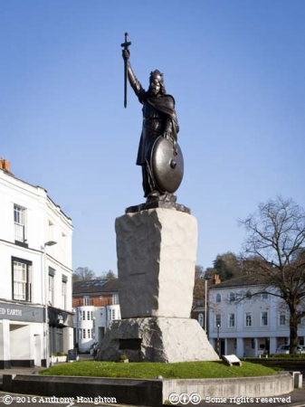 King Alfred,Statue,Winchester,Houses