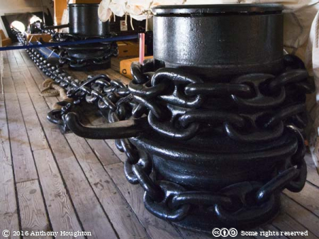 Riding Bits,Cable Deck,HMS Warrior,Portsmouth Historic Dockyard
