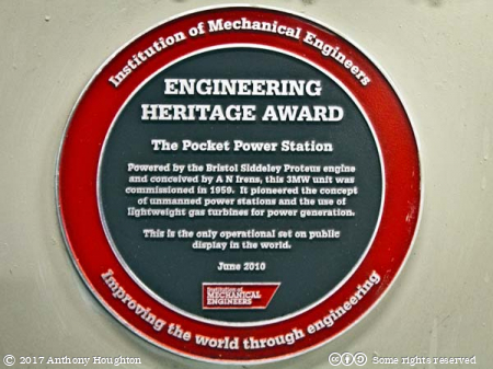Institution of Mechanical Engineers,IME Award,Pocket Power Station,Internal Fire,Museum of Power