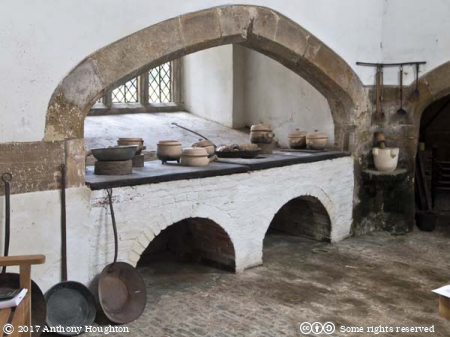 Kitchen,Cowdray Castle,Midhurst