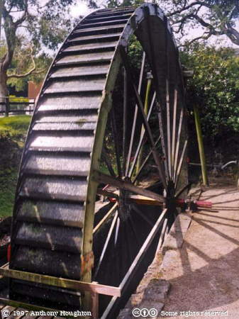 Wheal Martyn China Clay Museum,Waterwheel
