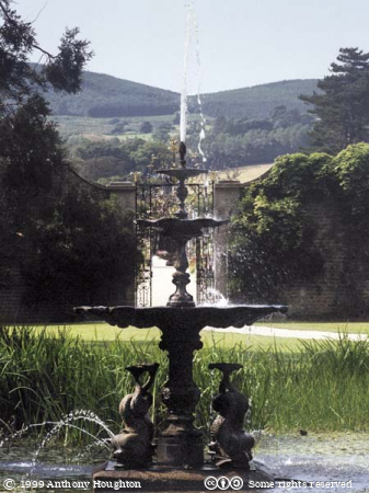 Powerscourt,Garden,Dolphin Pool,Fountain