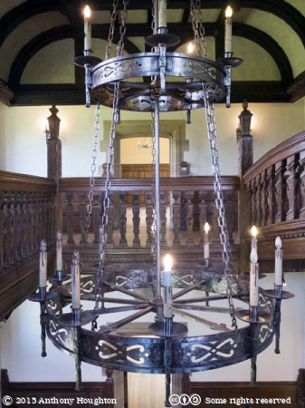 Electrolier,Main Stairs,Barrington Court,Court House,Stately Home,Historic House,National Trust,Light Fitting
